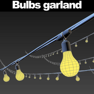 garlands lights 3d model