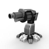 sci-fi grenade launcher 3d fbx