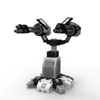 sci-fi gatling gun 3d model