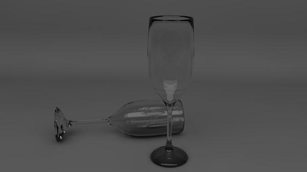3d model glass goblet