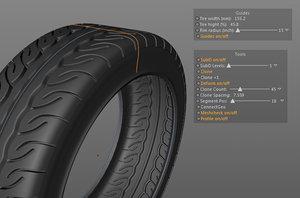 3d model tire setup profiles