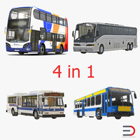 Buses 3D Models Collection 2