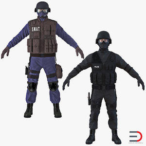 3d swat policemans 2 model