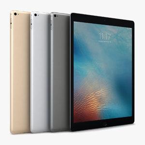 3d model apple ipad pro color