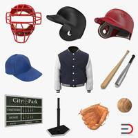 Baseball 3D Models Collection 6