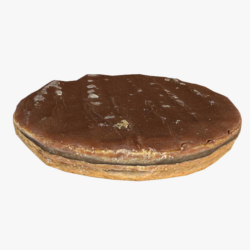 3d digestive biscuit model