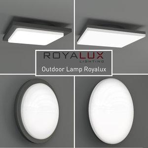 outdoor lighting lamp royalux 3d max