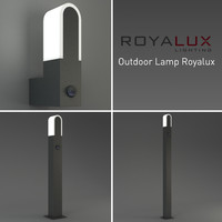 3d model outdoor lighting lamp royalux