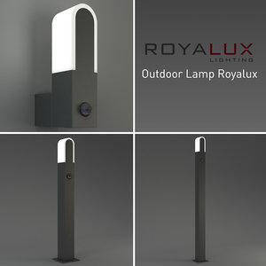3d model outdoor lighting lamp royalux
