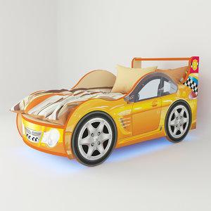 bed orange 3d model