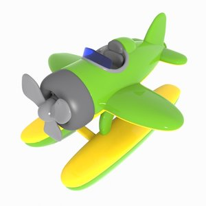 3ds cartoon seaplane plane