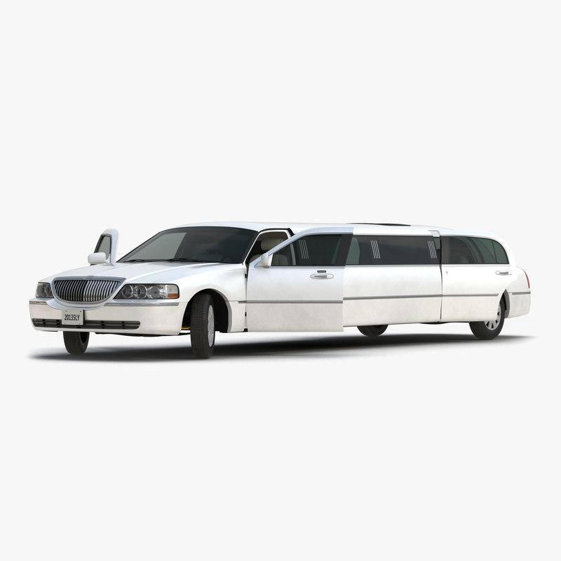 generic limousine white rigged max