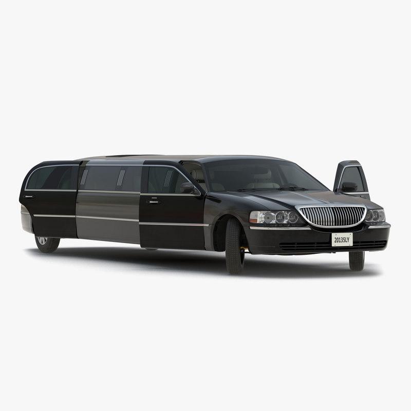 generic limousine black rigged max