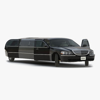 Generic Limousine Black Rigged
