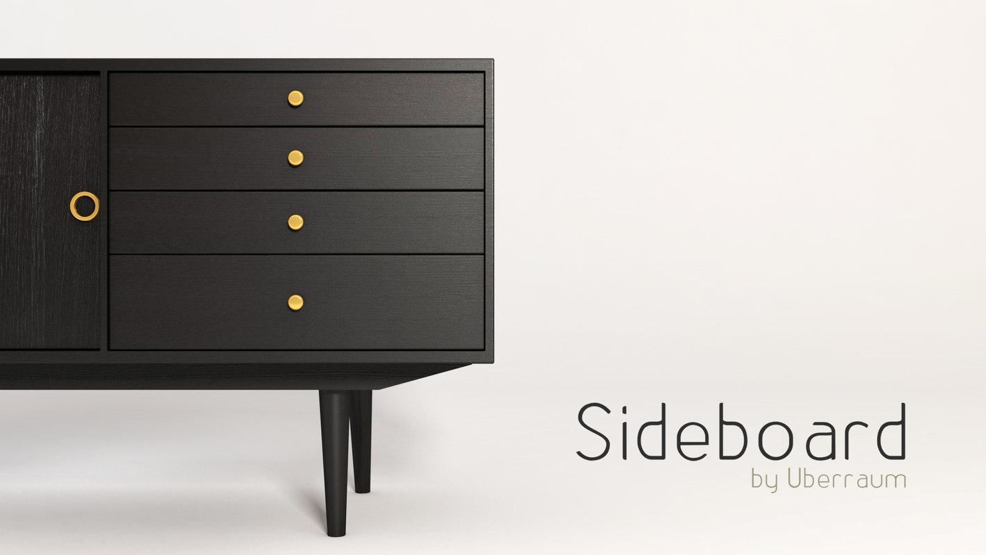 sideboard 3d c4d