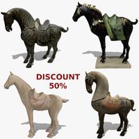 3d model horse statuettes 5