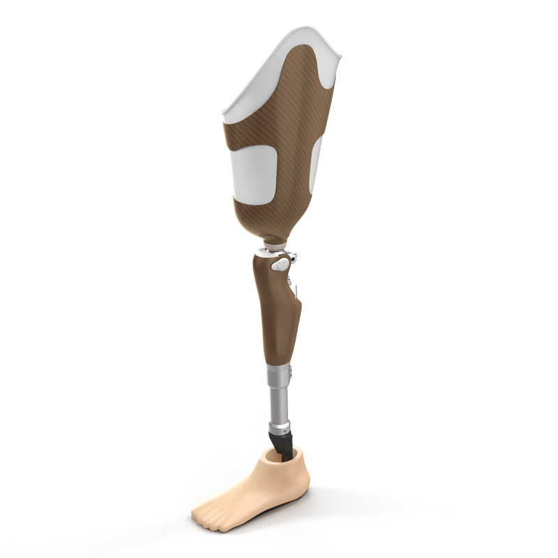 prosthetic leg 3d max