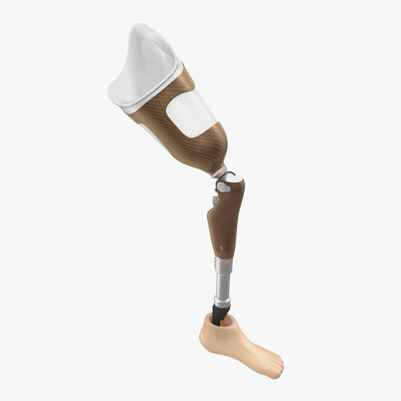 3d max prosthetic leg rigged