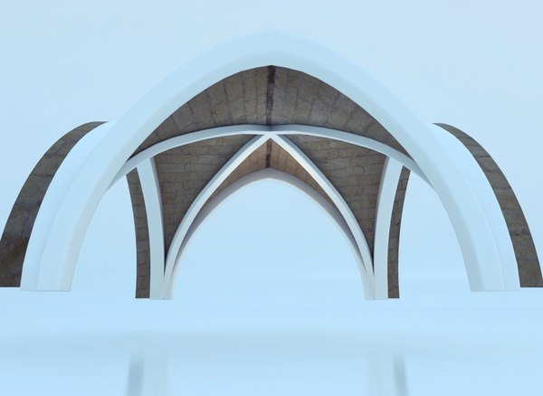 3d ancient cross vault model