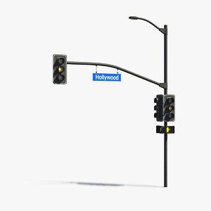 3d model of traffic light street rigging