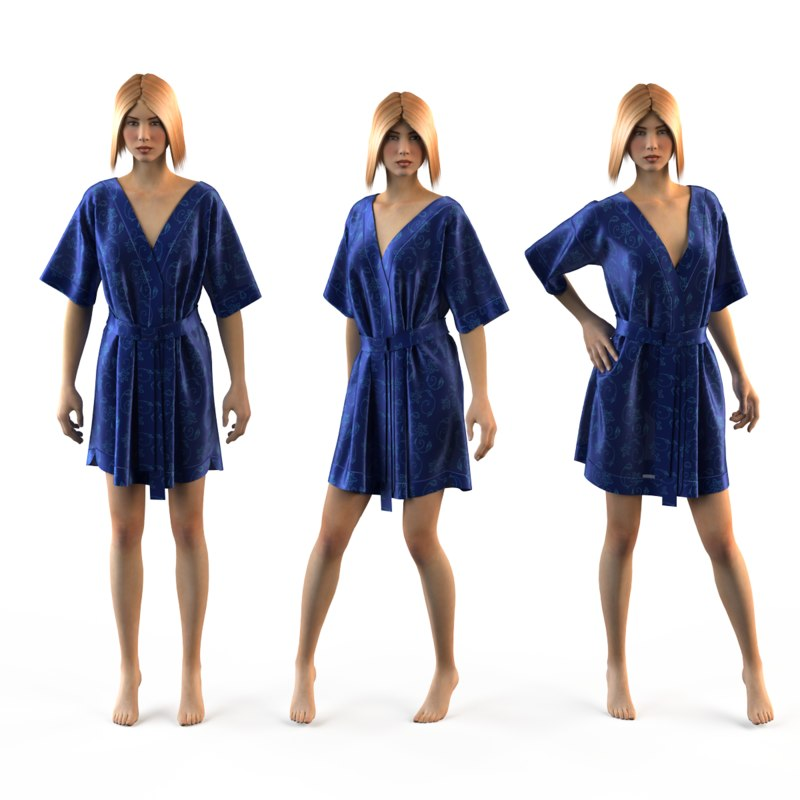 mannequin silk 3d model