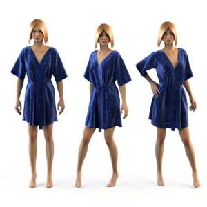 mannequin silk 3d model