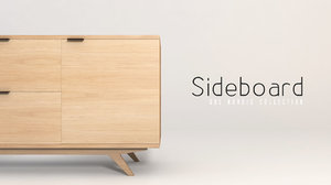 60 s sideboard 3d model