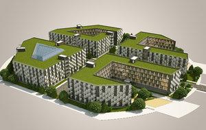 3d model olympic village australia