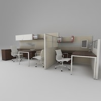 office working 3d max