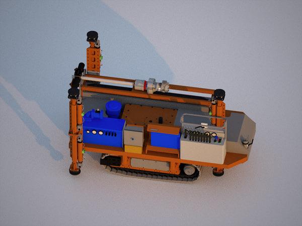 mobile drilling rig obj