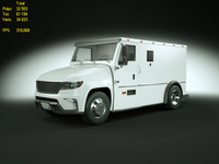 generic armored truck 3d model