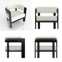 minotti warhol armchair 3d model