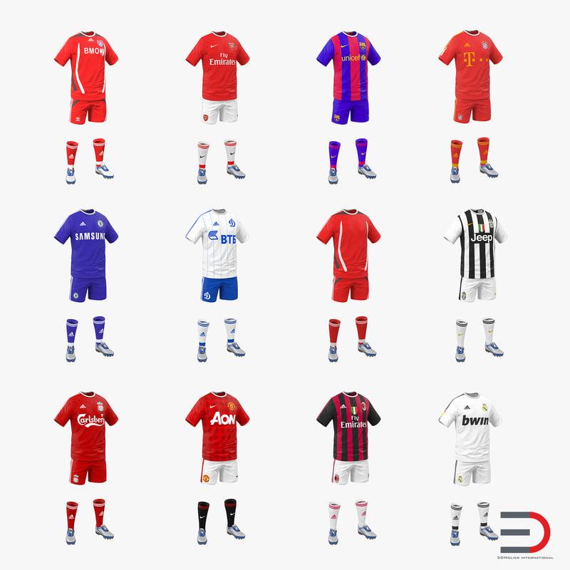 soccer clothes 3d model