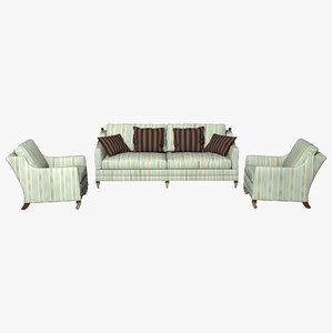 duresta chair sofa 3d obj