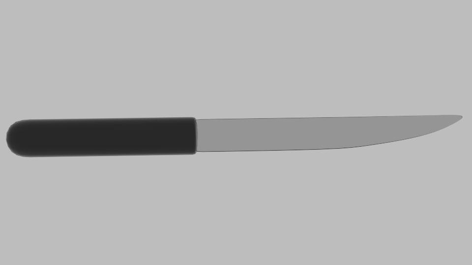 free knife 3 3d model