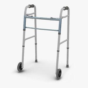 paddle walker wheels 3d max