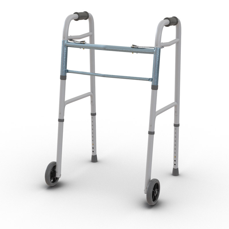 paddle walker wheels 3d max