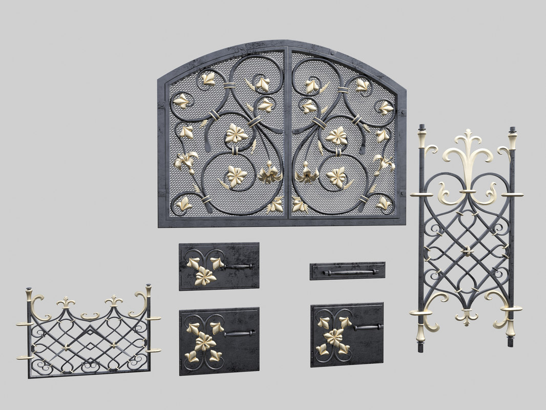 3d forged furnace doors