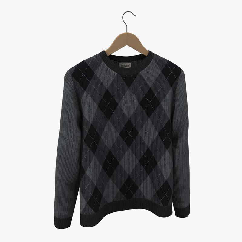 3d model sweater hanger 3