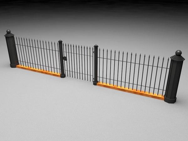 games fence modeled 3d model