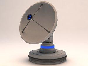 3d satellite antenna radio model
