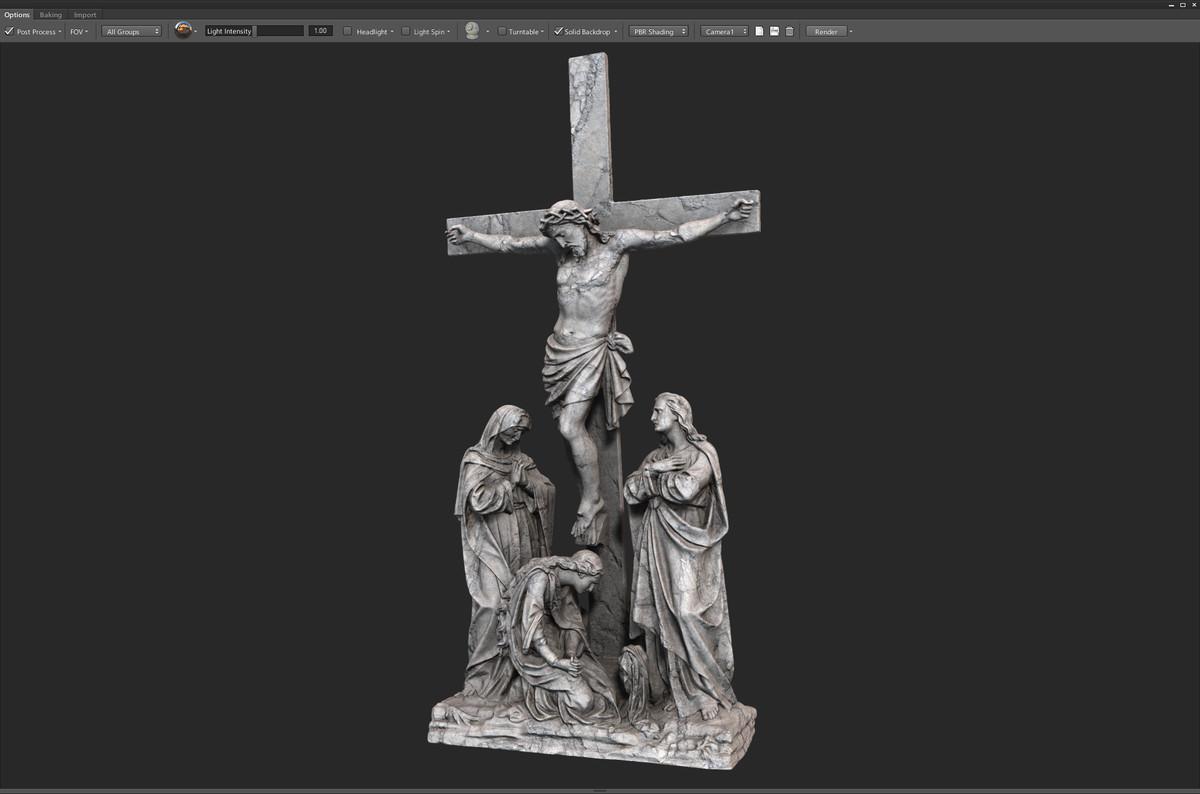 3d model scan crucifixion