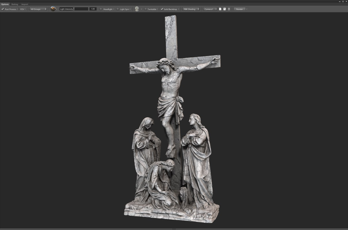 3d model scan crucifixion