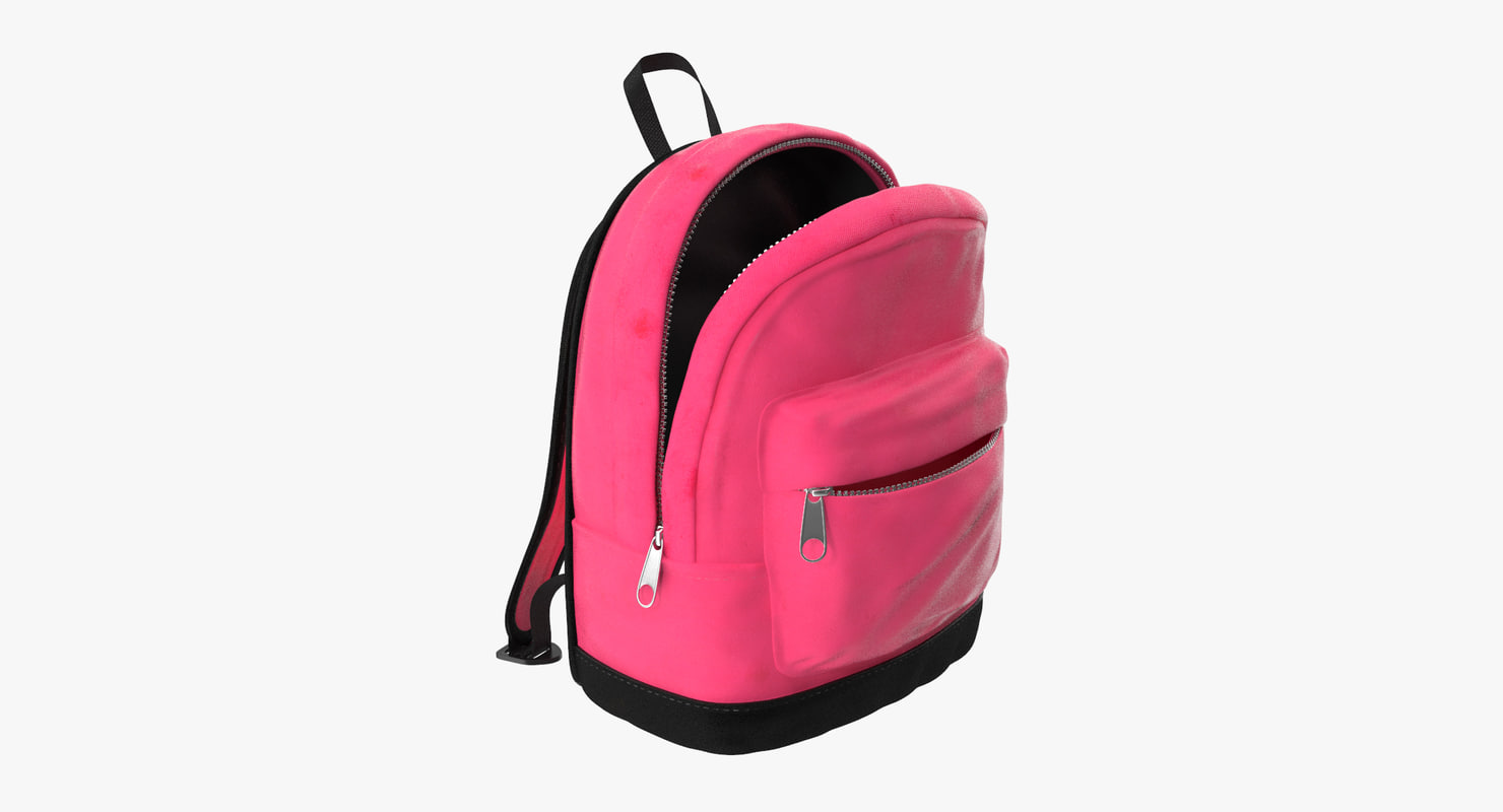 3d model of small kids backpack