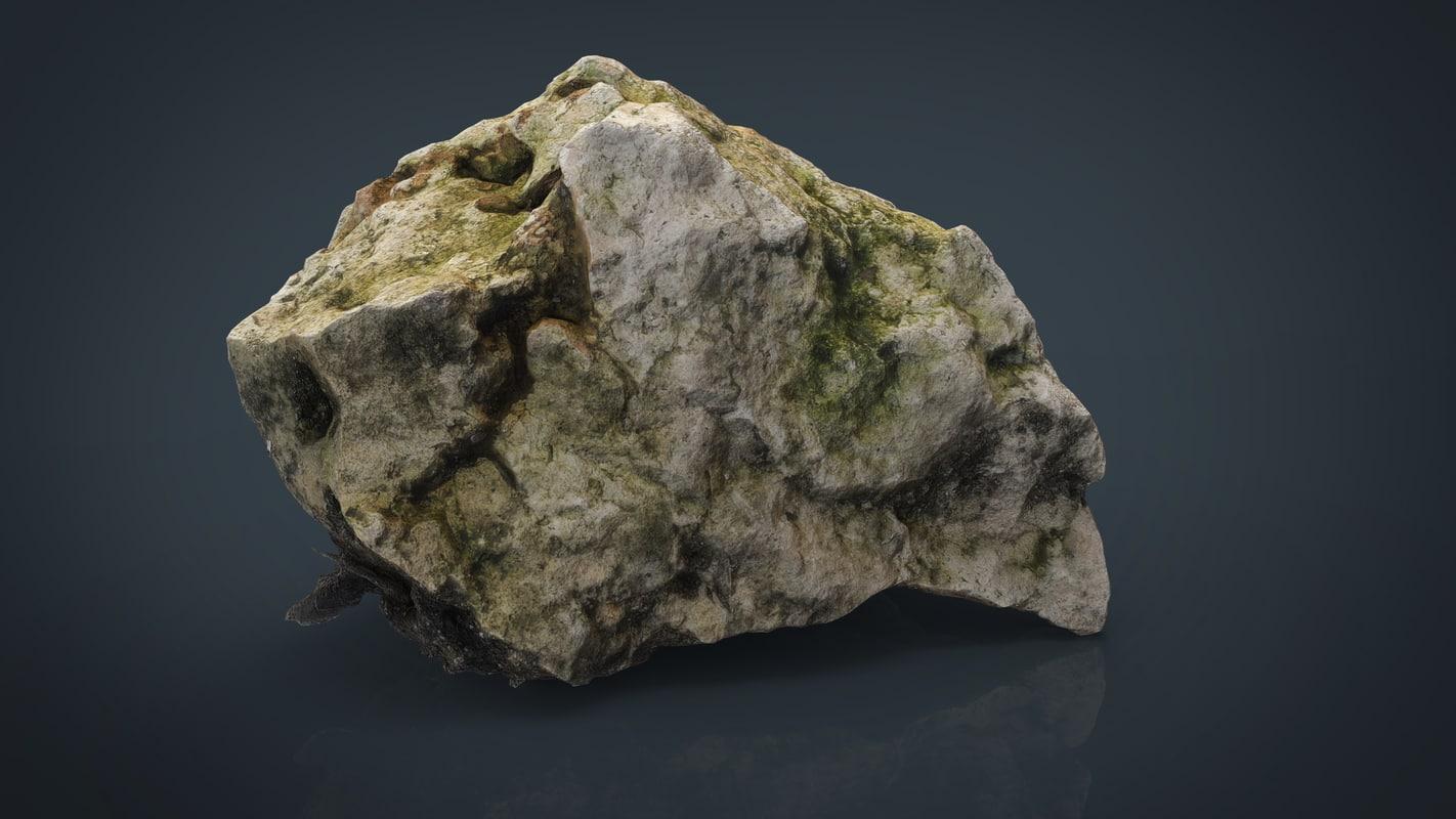 3d rock 8k model