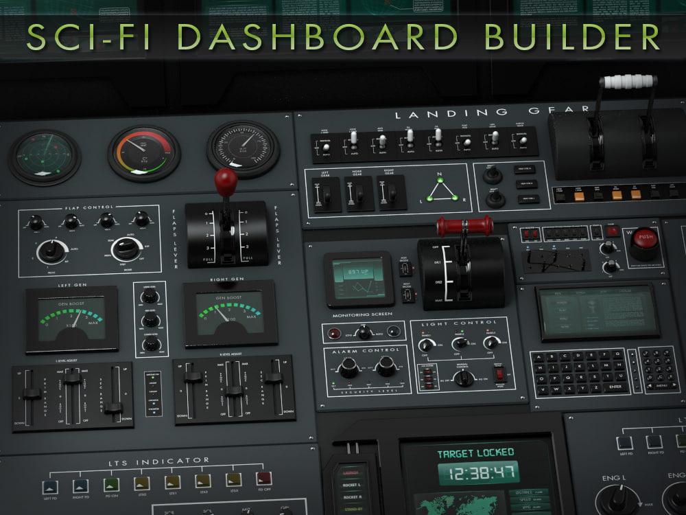 obj sci-fi dashboard builder