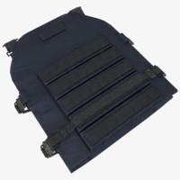 armor vest 3d model