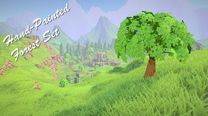 hand-painted pack 3d fbx