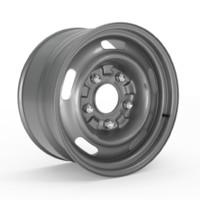 60s gm rally wheel 3d model