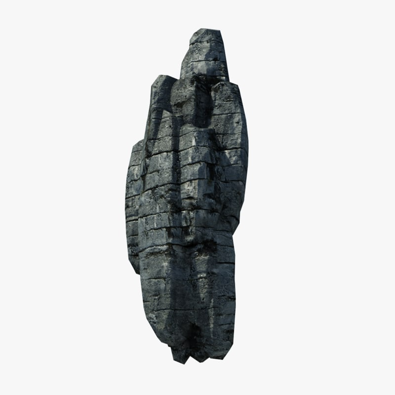 rocky cliff 3d model
